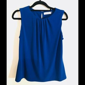 Calvin Klein blue sleeveless top